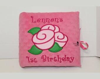 Baby Girl Photo Album, Personalized Birthday Photo Album, Personalized Baby Photo Album, Baby Shower Memory Gift,