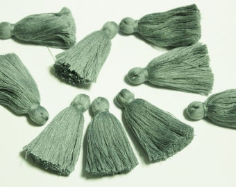 Gray India Tassels 2'', Boho Jewelry Making Tassels, Ethnic Supplies for Jewelry (TS9)