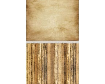 Brown Grunge and Rustic Wood - Vinyl Photography  Backdrop Photo Prop