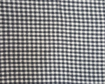 Black and White Check - Brushed Cotton