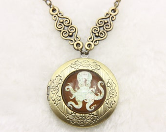Necklace locket Octopus 2020m