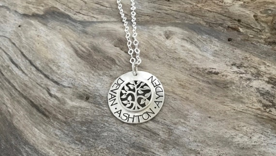 Tree Jewelry -Sterling Silver Personalized Tree of Life Necklace -Tree of Life Pendant -Tree of Life Necklace - Name Necklace -Name Jewelry