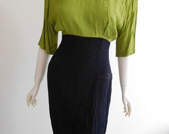 90s Two tone Cue dress Size 10 12