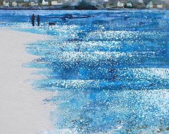 """COASTAL ROOM DECOR - print of painting - """"Tide Turning in the Bay"""" by Melanie McDonald - coastal decor - coastal wall art - coastal prints"""