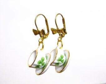 Tea Cup Earrings, Teacup Earrings, Tea Party Outfit, Tea Party Favors, Dangle Earrings, Tea Time, Tea Gifts, Tea Jewelry, Tea Lover Gift