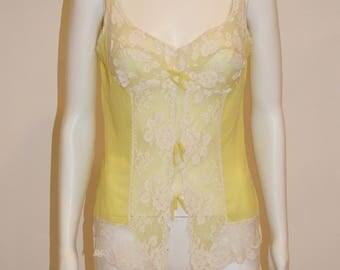 Vintage Yellow Lace Cami Lingerie top