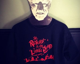 Vintage Return of The Living Dead Horror Film T Shirt John Russo Dan O Bannon Horror Cult Classic Collectible Clothing