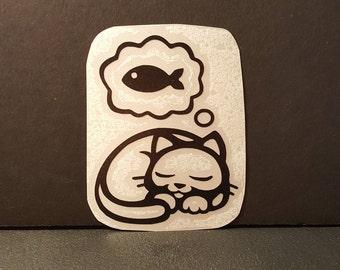 Sleepy Kitty Cat Decal