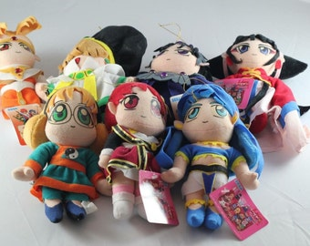 Set from 7 - Magic Knight Rayearth - Clamp - Vintage - Plush Toy - UFO