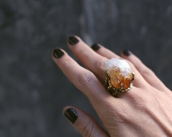 Limited citrine ring