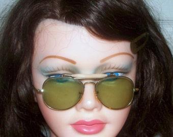 mini aviator sunglasses xwtd  RARE Vintage 1950's RAY-BAN Bausch&Lomb Mini Outdoorsman Aviator Sunglasses