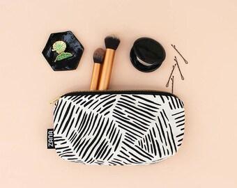 Lines Makeup Bag - Brush Bag - Travel Cosmetics Case