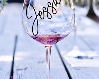 Bridal Party Decals Bride Decal Bridesmaid Decal Heart - Custom vinyl decals for wine glasses