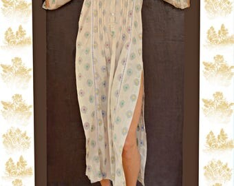 Boho Loose Dress / Women's Abaya / Maxi Jalabiya / Hippie Dress / Indian Kaftan / Hippie Caftan / Maxi Caftan / Vacation Dress / Loose Dress