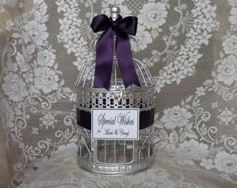 Bridal Shower Wishing Well, Bird Cage Card Holder, Baby Shower Card Holder, Shower Cards, Wedding Bird Cage Money Holder, Shower Supplies