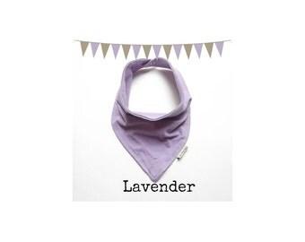 Baby Bandana Bib - Baby Bandana - Drool Bib - Solid Lavender