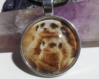 Mother and Baby Meerkat Necklace + Free Shipping Worldwide, meerkat jewelry, meerkat necklace, mummy baby animal jewelry mummy and baby love