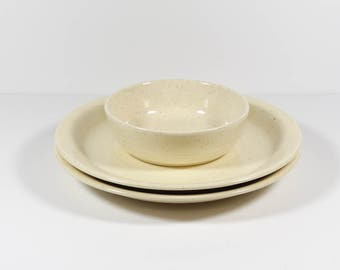 Franciscan Country Craft Almond Dinnerware - Dinner Plates and Coupe Bowl