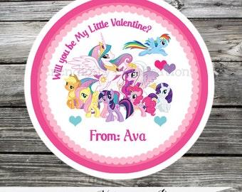 Printable Valentine Cards, Ponies Valentine's Day Cards, Classroom Cards, Valentine's Day,  Kids Valentine Cards, DIY Valentine's Cards