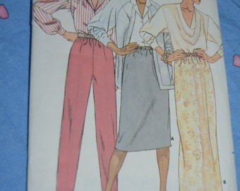 Butterick 3597 Misses Skirt and Pants Sewing Pattern - UNCUT - Sizes 8 10 12