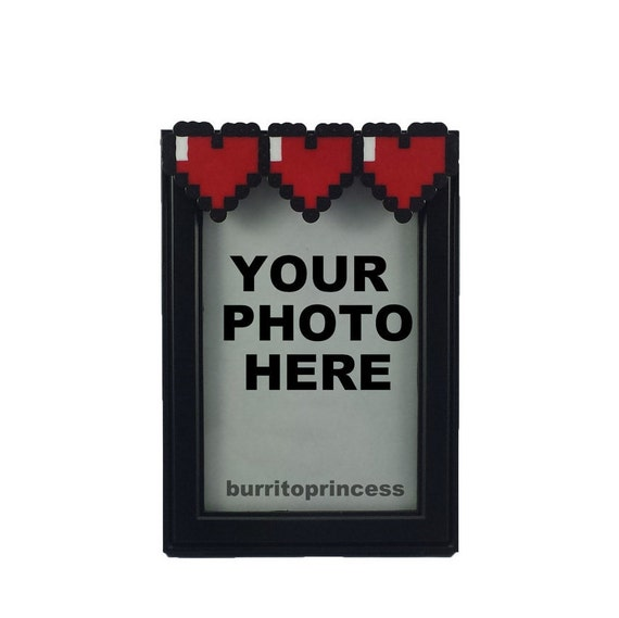Picture Frame Simple Heart Meter Retro