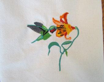 Hummingbird Kitchen towels - Set of 2