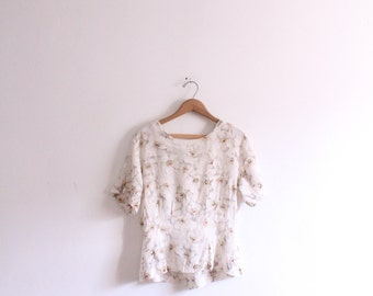 Airy Floral Silk Blouse