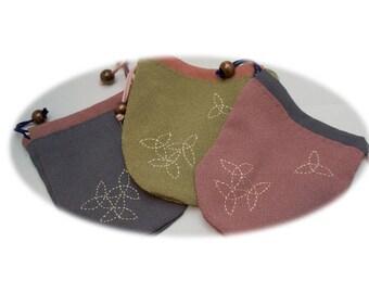 Kinchaku Drawstring Bag (Crepe fabrics / B Series)