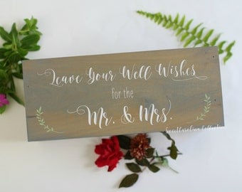 Mr and Mrs Wooden Wedding Advice Box WS-229
