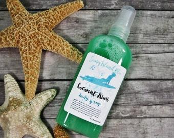Coconut Kiwi Body Mist - Body Spray - Coconut Body Mist - Body Mist Spray - Body Spray Mist - Spray Perfume - Vegan Body Spray