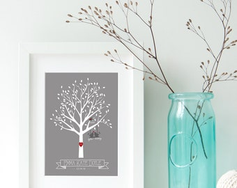 Family Tree Nursery Art, Personalized Family Tree, New Baby Gift, New Baby, Nursery Decorations, Printable Nursery Art, Tree, Birds