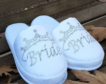 Bride stone printed velvet slippers. Slippers are made of terry cloth, so there is a stretch and suitable #