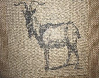Goat Burlap Picture