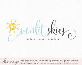 Sun Logo Sun Watermark Photography Logo Premade Logo Watermark Logo Business Logo Branding Logo Custom Logo Logos and Watermarks