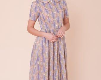 Liberty print midi dress