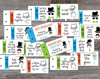 Easter coupon book for kids easter basket filler easter coupon book for dad love coupons fathers day gift from kids printable coupon book negle Choice Image