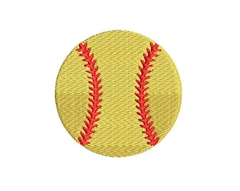 Softball Baseball Mini Design File for Embroidery Machine Monogram Instant Download