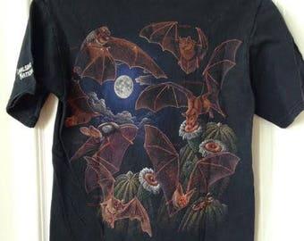 Vintage 90s Animal Bat Graphic Carlsbad Carverns National Park T-Shirt Size Small