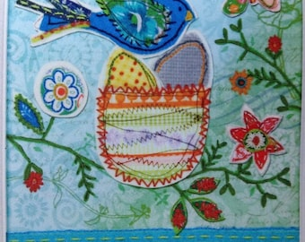 8x10 Springtime Family Hugs Shared Daily Embroidery Kit