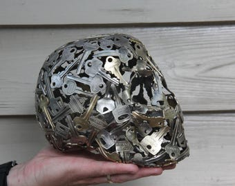 Human Key skull Sculpture