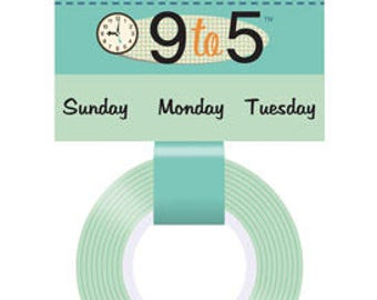 """October Afternoon 9 to 5 """"Day"""" Days of the Week Washi Tape, 24-ft Roll of Scrapbook/Crafting Tape"""