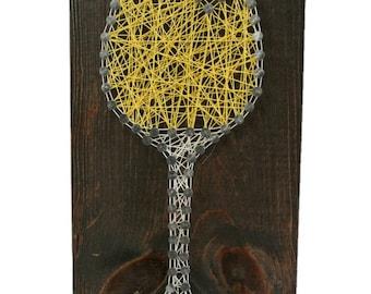 Wine string art sign- Wine gift- Wine wall decor- Wine home decor- Wine glass decor