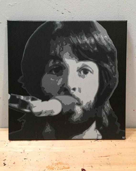 Paul McCartney Custom Canvas Pop Art Painting The Beatles Portrait