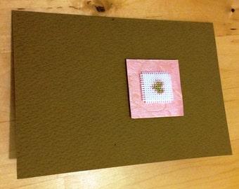 Handmade Greeting Card: Heart design