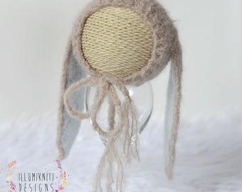 Easter Bunny Bonnet Knitting Pattern - Newborn Easter Bunny Bonnet Knitting Pattern - Instant Download