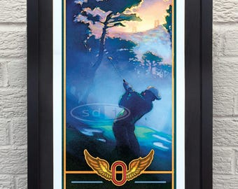 US Open Golf gift sports golf art poster print painting