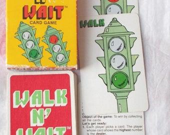 Vintage Card Game Walk n Wait 1983 Complete