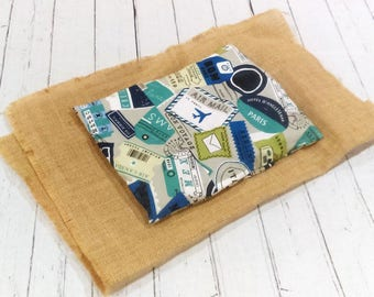 Heating Pad Cover - Microwave Hot Pack with Flax Seed and Rice and Herbs, Gift for husband, gift for him, gift for brother, gift for father