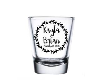 Custom Shot Glass, Wedding Shot Glass, Personalized Shot Glass, Wedding Favor Shot, Party Shot Glasses, Fun Shot, Bridal Party Shot Glass