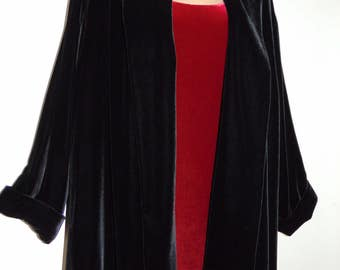 Laura Ashley Vintage Silk Velvet, Open Style, Opera Occasion Blazer Cape Jacket, size 14 UK